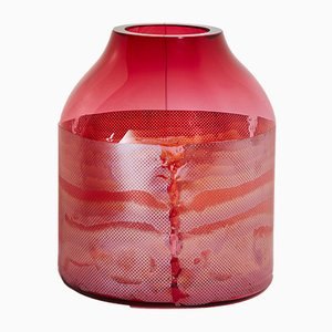 Goldene Rubinfarbene Colored by Copper Co Co Vase von Milena Kling, 2015