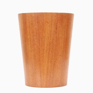 Mid-Century Modern Scandinavian Waste Paper Basket in Teak from Servex, 1960s