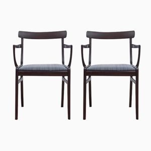 Mid-Century Modern Model Rungstedlund Armchairs by Ole Wanscher for Poul Jeppesens Møbelfabrik, 1970s, Set of 2