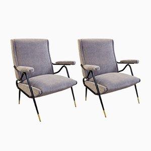 Vintage Italian Adjustable Armchairs, Set of 2