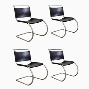 Vintage MR 10 Dining Chairs by Mies Van Der Rohe for Knoll, Set of 4