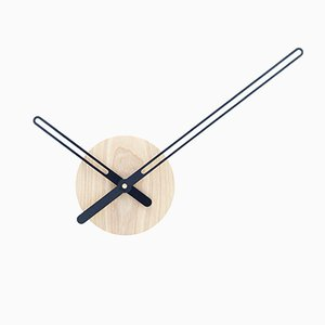 Sweep Wall Clock in Ash & Black Metal by Christopher Konings