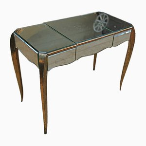 Dressing Table in Brass and Glass, 1940s