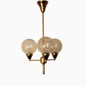 Messing Deckenlampe, 1960er