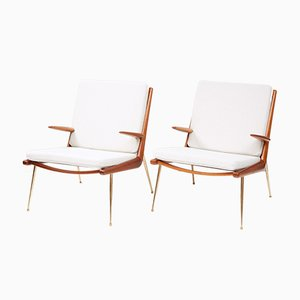 FD-159 Boomerang Chairs by Peter Hvidt & Orla Molgaard-Nielsen for France & Daverkosen, 1950s, Set of 2