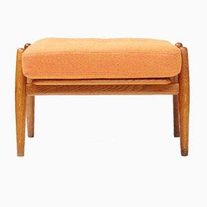 GE-240 Cigar Oak Ottoman by Hans J. Wegner for Getama, 1950s