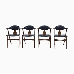 Cow Horn Chairs by Louis van Teeffelen for AWA, 1960s, Set of 4