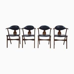 Cow Horn Stühle von Louis van Teeffelen für AWA, 1960er, 4er Set