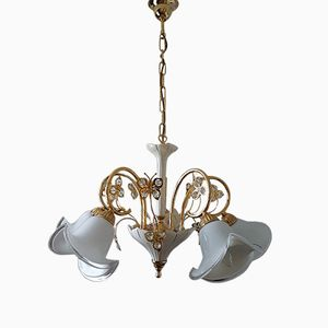 Murano Glass & Swarovski Crystal Chandelier from B.C. San Michele, 1980s