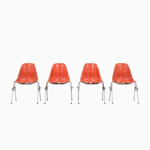 Modell DSS Esszimmerstühle von Charles und Ray Eames für Herman Miller, 4er Set