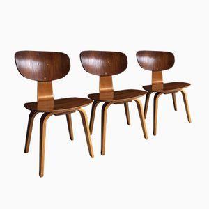 SB02 Esszimmerstühle von Cees Braakman für Pastoe, 1950er, 3er Set