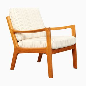 Mid-Century Oak Senator Easy Chair by Ole Wanscher for Poul Jeppesen