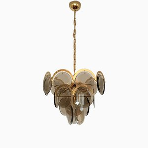 Gilded Lamp from Vistosi, 1960s