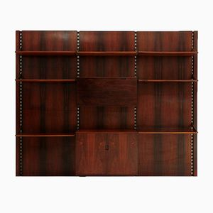 Italian Rosewood Wall Unit & Bookcase from Mobilia, 1960s