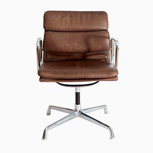 Chaise de Conférence à Coussin EA 208 Vintage par Charles & Eames pour Herman Miller