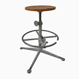 Mid-Century Drafting Stool by Friso Kramer for Ahrend De Cirkel