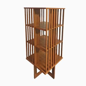 Swedish Revolving Teak Bookcase, 1960s