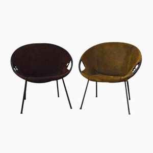 Mid-Century Circle Chairs by Lusch Erzeugnis for Lobmeyr, Set of 2
