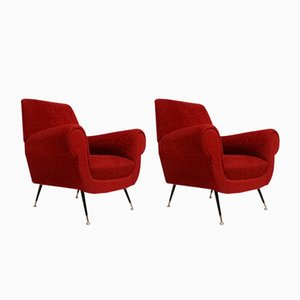 Mid-Century Armchairs by Gigi Radice for Renzo Minotti, Set of 2