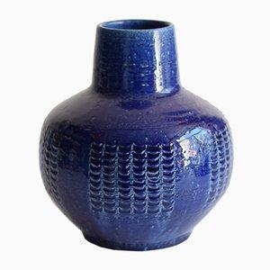 Mid-Century Scandinavian Blue Vase by Per & Annelise Linnemann-Schmidt for Palshus, 1960s