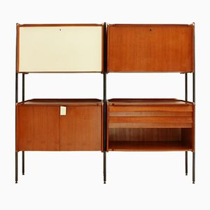 Italian Wall Unit with Uprights, 1950s
