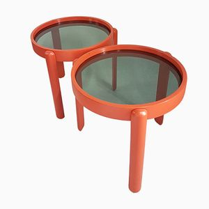 Vintage Space Age Italian Stacking Tables, Set of 2
