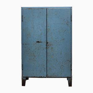 Vintage Industrial Blue Cabinet, 1960s