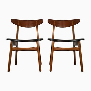 Mid-Century CH-30 Chairs by Hans J. Wegner for Carl Hansen & Søn, Set of 2