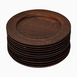 Vintage Wenge Cover Plates from Ehrenreich, Set of 12
