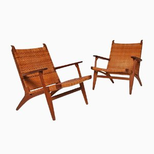 CH27 Chairs by Hans Wegner for Carl Hansen & Søn, 1950s, Set of 2