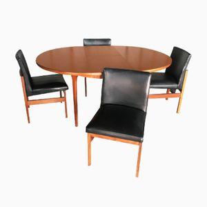 Esszimmerset mit 4 Dänischen Stühlen und 1 Tisch von Macintosh, 1970er