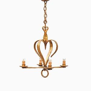 Vintage Heart-Shaped Chandelier