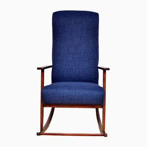 Navy Blue Rocking Chair, 1960s