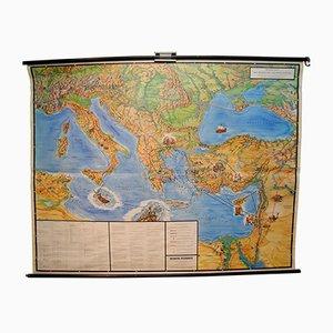 Carte des Voyages de l'Apôtre Paul Vintage de Verlag Ewald Becker