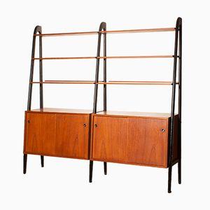 Teak Double Bookcase by Bertil Fridhagen, 1950s