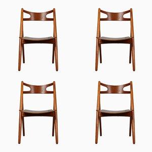 Vintage CH-29 Chairs by Hans J. Wegner for Carl Hansen & Søn, Set of 4