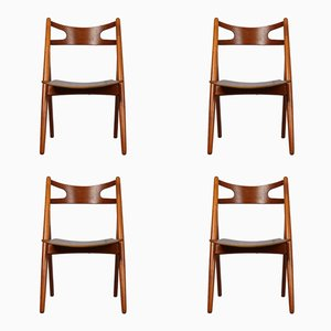 Vintage CH29 Chairs by Hans J. Wegner for Carl Hansen & Søn, Set of 4