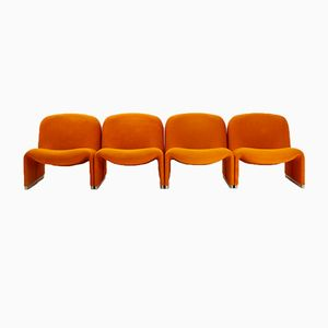 Alky Armchair by Giancarlo Piretti for Anonima Castelli, 1960s, Set of 4
