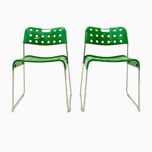 Chaises Vertes par Rodney Kinsman pour Bieffeplast, 1972, Set de 2