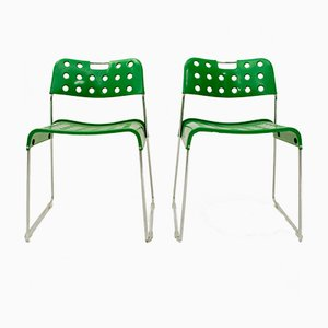 Grüne Stühle von Rodney Kinsman für Bieffeplast, 1972, 2er Set