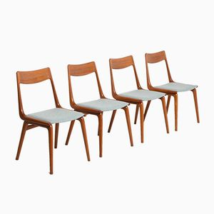 Vintage Boomerang Dining Chairs by Alfred Christensen for Slagelse Møbelværk, Set of 4