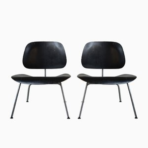 Lounge Chair Metal (LCM) by Charles & Ray Eames for Herman Miller, 1950s, Set of 2