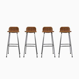 Bar Stools by Dirk van Sliedregt for Rohe Noordwolde, 1950s, Set of 4