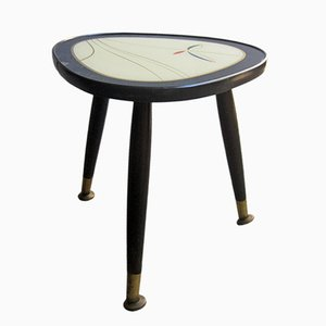 Lacquered Wooden Side Table, 1950s