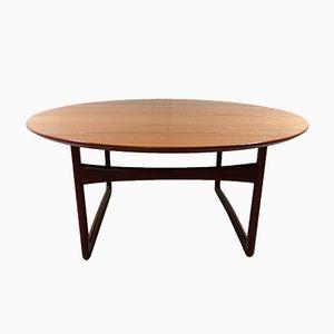 Table Basse Ronde en Teck par Peter Hvidt & Orla Molgaard-Nielsen pour France & Søn, 1960s