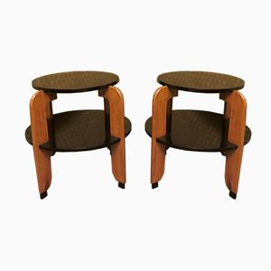 French Art Deco Tables, 1930s, Set of 2