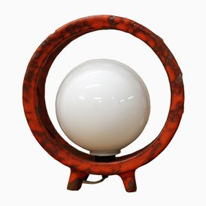 Vintage Lava Lamp with Globe, 1970s