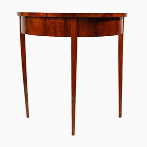 Vintage Small Demi-Lune Console Table
