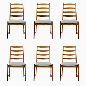 Ladder Back Dining Chairs by Torbjørn Afdal for Vamo, 1965, Set of 6