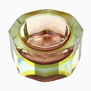 Italienischer Glas Aschenbecher von Paolo Venini, 1960er